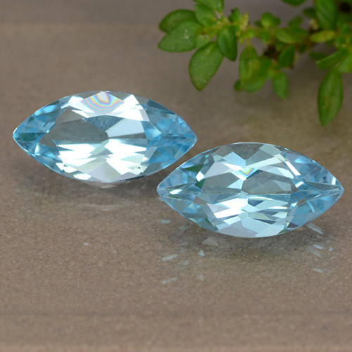 Sky Blue Topaz Gem - 1.3ct Marquise Facet (ID: 489087)