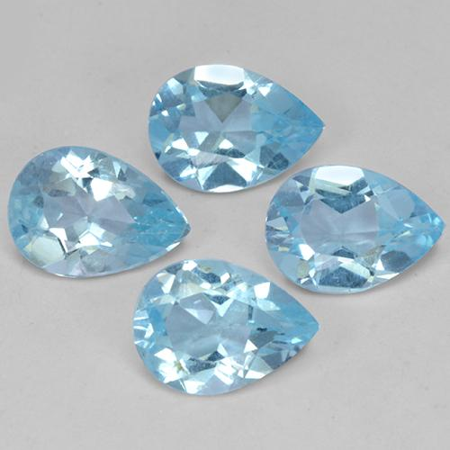 Sky Blue Topaz Gem - 0.7ct Pear Facet (ID: 489198)