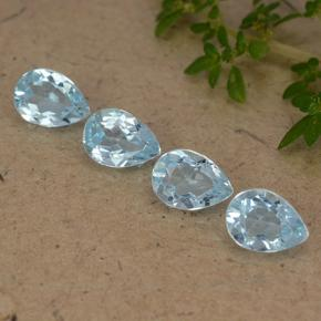 Sky Blue Topaz Gem - 0.9ct Pear Facet (ID: 489199)