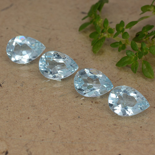 Sky Blue Topaz Gem - 0.8ct Pear Facet (ID: 489200)