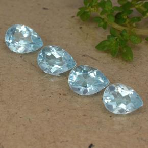 Sky Blue Topaz Gem - 0.8ct Pear Facet (ID: 489285)