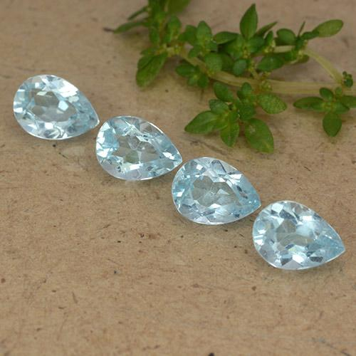 Sky Blue Topaz Gem - 0.9ct Pear Facet (ID: 489286)