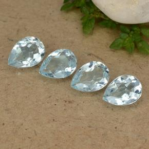 Sky Blue Topaz Gem - 0.8ct Pear Facet (ID: 489288)