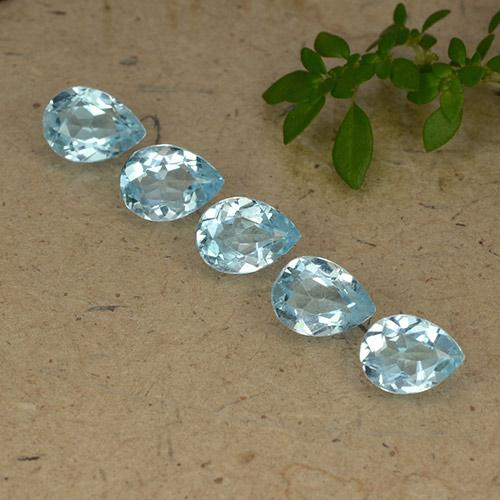 Sky Blue Topaz Gem - 0.8ct Pear Facet (ID: 489295)