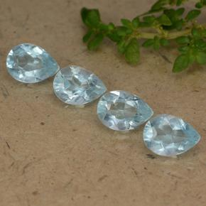 Sky Blue Topaz Gem - 0.8ct Pear Facet (ID: 489321)