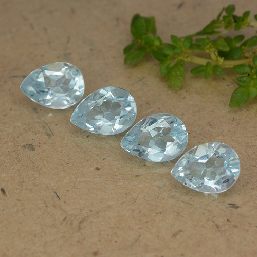 Sky Blue Topaz Gem - 0.9ct Pear Facet (ID: 489323)