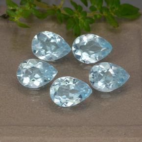 Sky Blue Topaz Gem - 0.8ct Pear Facet (ID: 489336)
