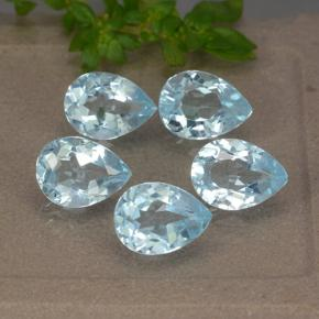 Sky Blue Topaz Gem - 0.9ct Pear Facet (ID: 489339)