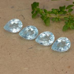 Sky Blue Topaz Gem - 0.9ct Pear Facet (ID: 489343)