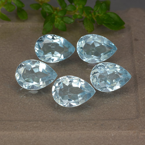 Sky Blue Topaz Gem - 0.8ct Pear Facet (ID: 489397)