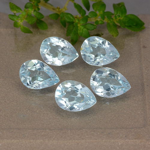 Sky Blue Topaz Gem - 0.8ct Pear Facet (ID: 489399)