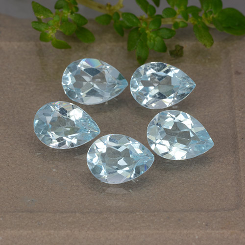 Sky Blue Topaz Gem - 0.8ct Pear Facet (ID: 489400)