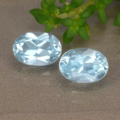 Sky Blue Topaz Gem - 1ct Oval Facet (ID: 490074)