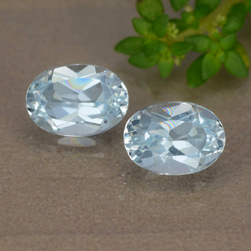 Light Sky Blue Topaz Gem - 1.1ct Oval Facet (ID: 490076)