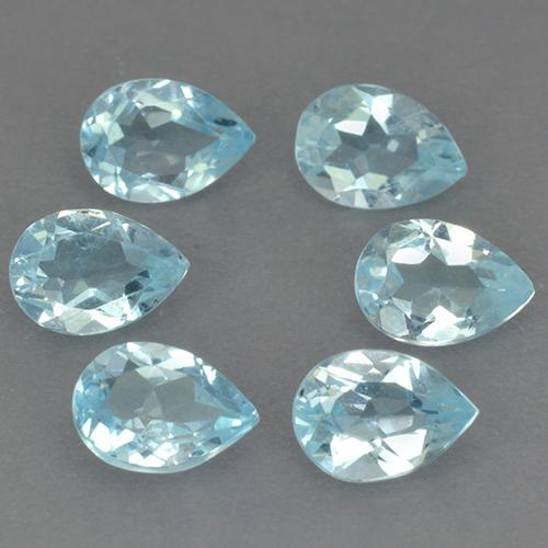 Sky Blue Topaz Gem - 0.7ct Pear Facet (ID: 491147)