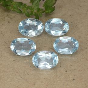 Baby Blue Topaz Gem - 1ct Oval Facet (ID: 491227)