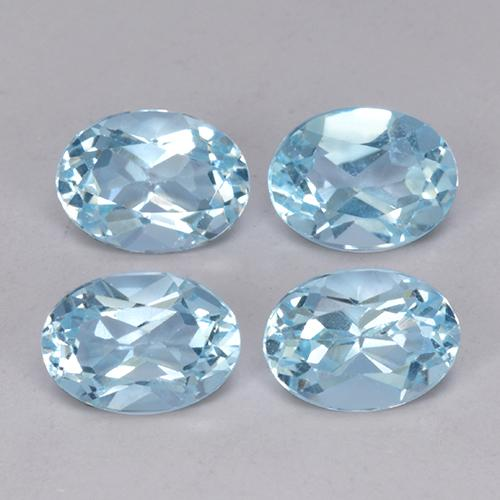 Sky Blue Topaz Gem - 1ct Oval Facet (ID: 491241)
