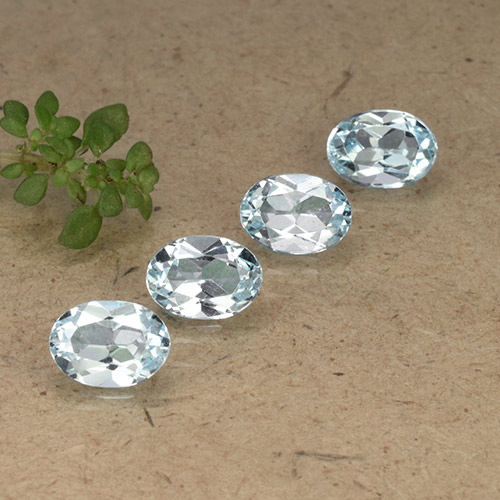 Pale Blue Topaz Gem - 1ct Oval Facet (ID: 491297)