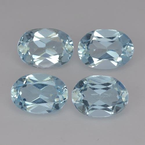 thumb image of 0.9ct Oval Facet Sky Blue Topaz (ID: 491318)