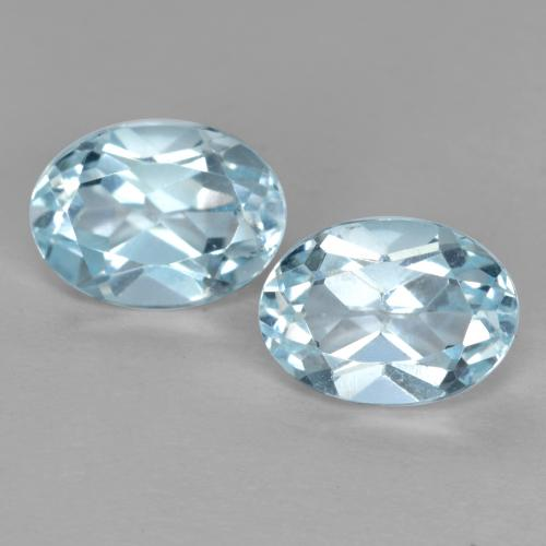 Sky Blue Topaz Gem - 1.1ct Oval Facet (ID: 491321)