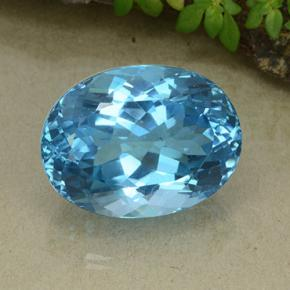 Swiss Blue Topaz Gem - 40.7ct Oval Facet (ID: 498649)