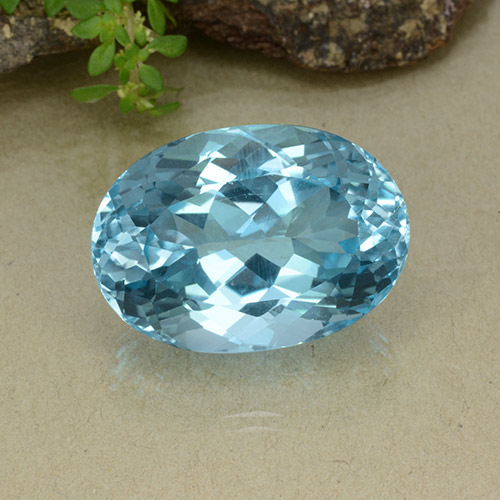 Swiss Blue Topaz Gem - 43.1ct Oval Facet (ID: 498651)