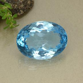 Swiss Blue Topaz Gem - 39.4ct Oval Facet (ID: 498654)