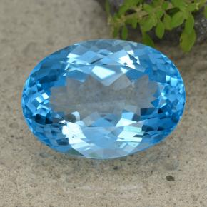 Swiss Blue Topaz Gem - 44.4ct Oval Facet (ID: 499048)