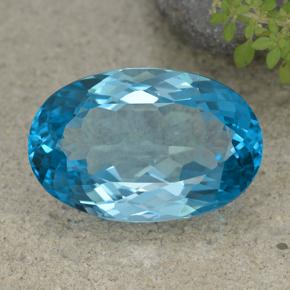 Swiss Blue Topaz Gem - 52.5ct Oval Facet (ID: 499050)
