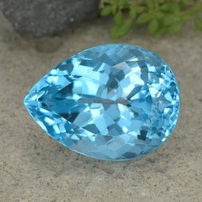 Swiss Blue Topaz Gem - 39.2ct Pear Facet (ID: 499056)