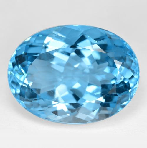 41.3ct Oval Facet Swiss Blue Topaz Gem (ID: 499059)