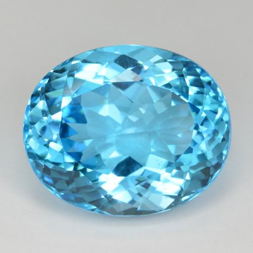 Swiss Blue Topaz Gem - 53.6ct Oval Facet (ID: 499061)