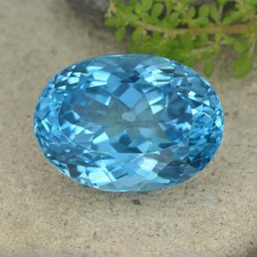 Deep Azure Blue Topaz Gem - 65.9ct Oval Facet (ID: 499065)