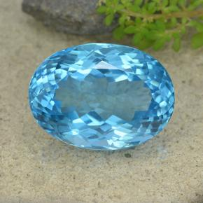 Swiss Blue Topaz Gem - 61.1ct Oval Facet (ID: 499066)