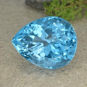 Swiss Blue Topaz Gem - 64.9ct Pear Facet (ID: 499073)