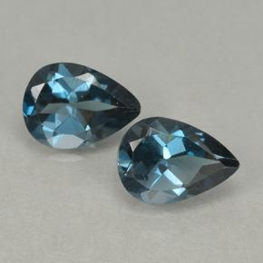 London Blue Topaz Gem - 0.8ct Pear Facet (ID: 499657)