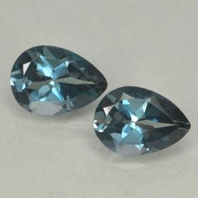 London Blue Topaz Gem - 0.8ct Pear Facet (ID: 499659)