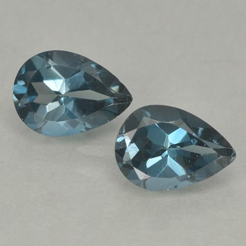 London Blue Topaz Gem - 0.8ct Pear Facet (ID: 499663)