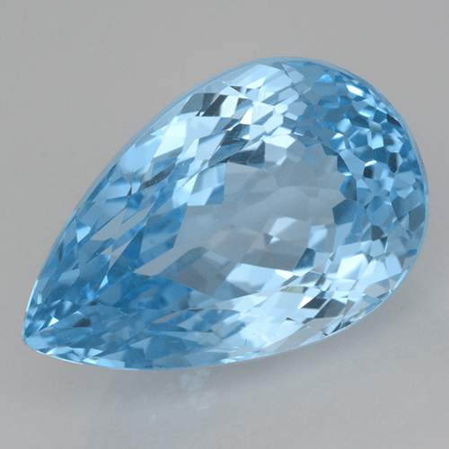 Swiss Blue Topaz Gem - 28.3ct Pear Facet (ID: 500411)