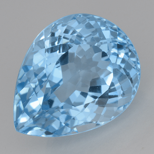 Swiss Blue Topaz Gem - 22.8ct Pear Facet (ID: 500412)