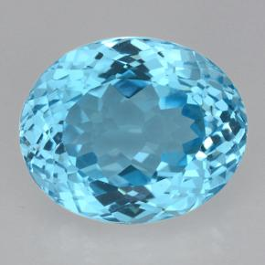 Swiss Blue Topaz Gem - 22.1ct Oval Facet (ID: 500419)