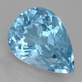Swiss Blue Topaz Gem - 20.9ct Pear Facet (ID: 500431)