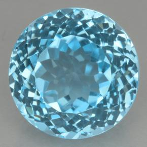 Swiss Blue Topaz Gem - 21.4ct Round Facet (ID: 500536)