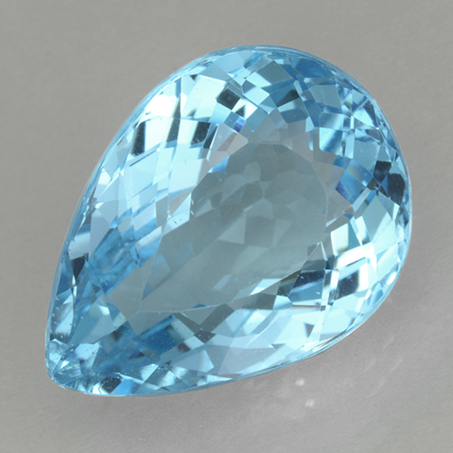 Swiss Blue Topaz Gem - 20.2ct Pear Facet (ID: 500538)