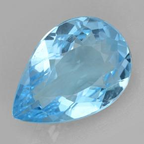 Swiss Blue Topaz Gem - 11.4ct Pear Facet (ID: 500669)