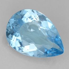 Swiss Blue Topaz Gem - 18.8ct Pear Facet (ID: 500670)