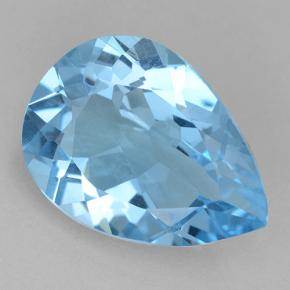 Swiss Blue Topaz Gem - 15.8ct Pear Facet (ID: 500672)