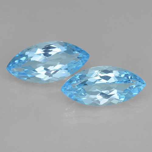 Baby Blue Topaz Gem - 3.8ct Marquise Facet (ID: 501714)
