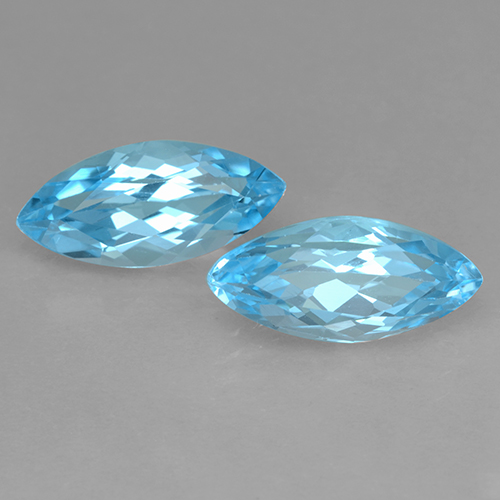 Swiss Blue Topaz Gem - 3.9ct Marquise Facet (ID: 501715)