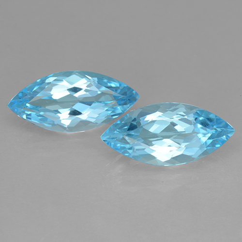 Baby Blue Topaz Gem - 3.6ct Marquise Facet (ID: 501716)